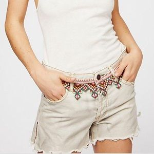 NWT Free People Borderline Embroidered Shorts